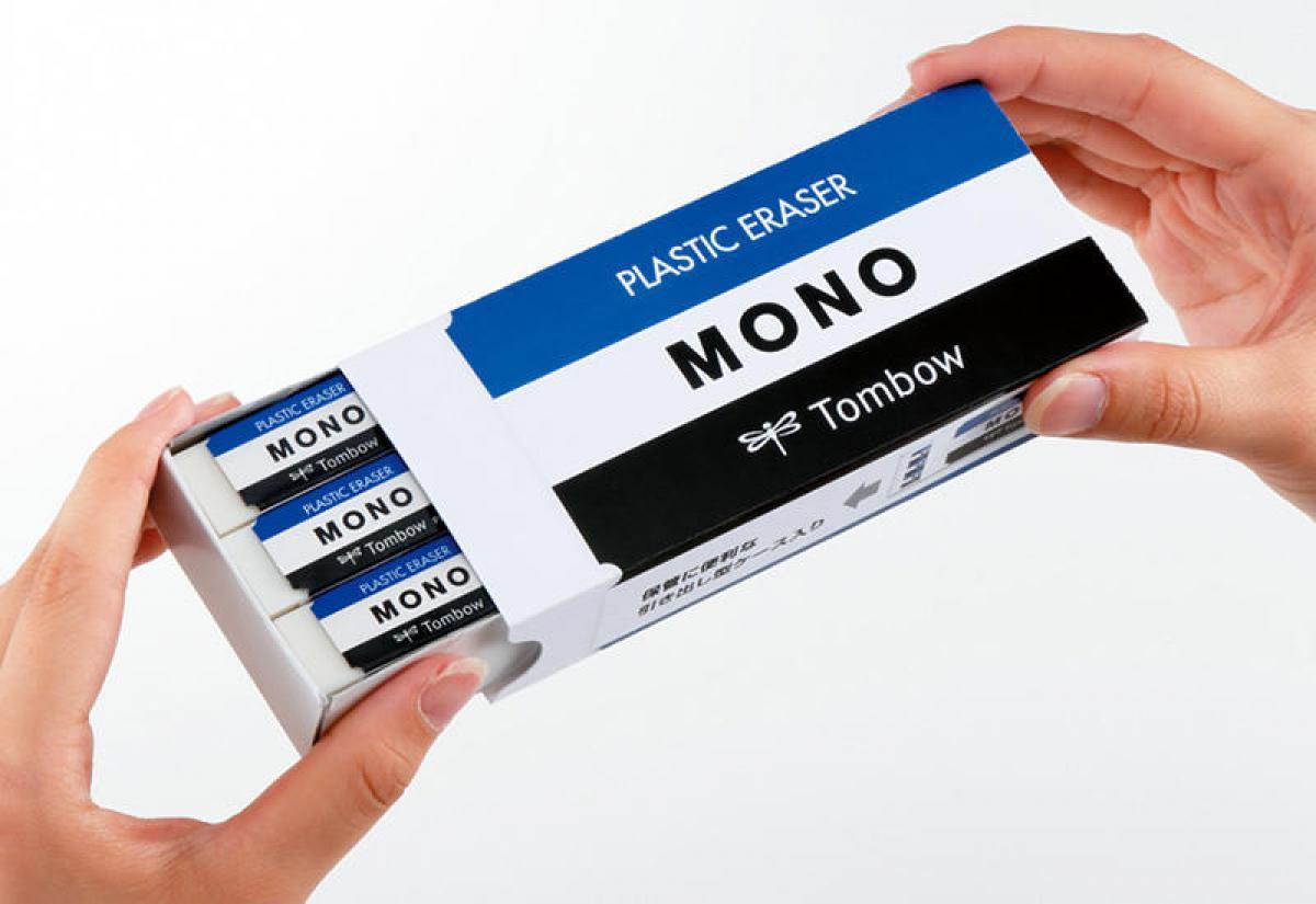 文具の奥深い魅力を伝えるWebマガジン【新製品】MONO型紙箱に消しゴム18個入り! トンボ鉛筆「MONO・box」