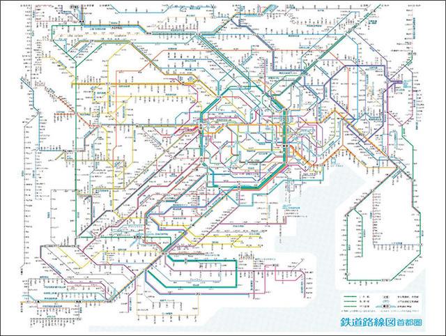 新製品】首都圏の鉄道路線図のレジャーシート|
