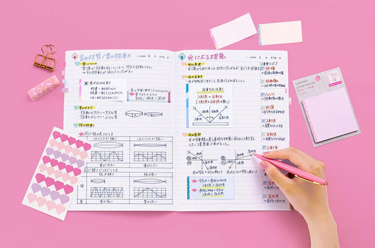 文具の奥深い魅力を伝えるWebマガジン【新製品】「&STUDIUM」の見返しやすいまとめノートシリーズ
